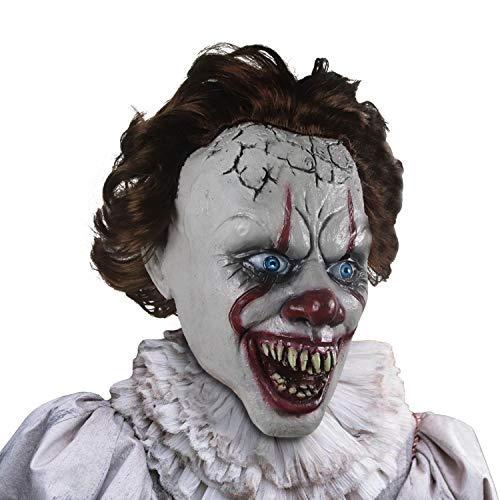 supremask Disfraz de Payaso Disfraz de Miedo Horror Pelcula Estilo Disfraz de Halloween Cabeza Accesorios de Cosplay Disfraz de Festival Ltex (Payaso de Boca Abierta)