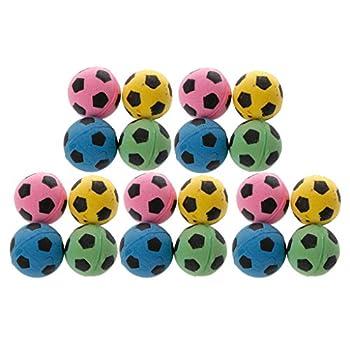 Koobysix Lot de 20 balles de football en mousse EVA pour chat - Non bruyantes