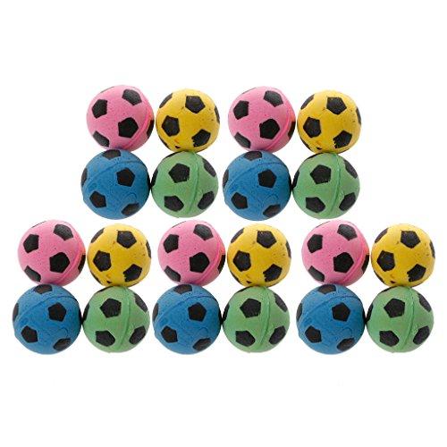dedepeng Hundebälle / Hundeballwerfer für Hunde, geräuschlos, EVA-Ball, weicher Schaumstoff, 20 Stück