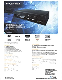 عروض Funai Combination VCR و مسجل DVD (ZV427FX4)