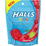 Halls Kids Cough & Sore Throat Cherry Pops,10 Pops Each (Pack of 3)