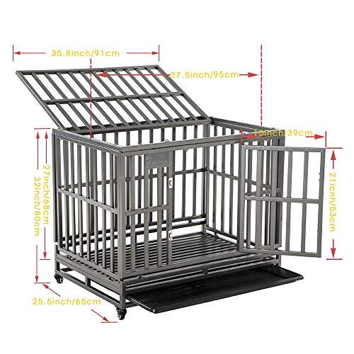 SMONTER Heavy Duty Dog Cage
