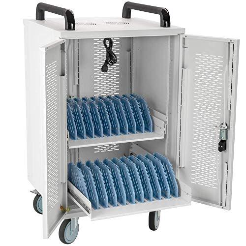 RackMatic - Armario de Transporte para 20 Ordenador portátil, Notebook y Tablet Blanco