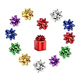 240pcs Mini Gift Bow- 1' Inch Metallic Star Bow Small Tiny Stick On Bows for Present Holiday Christmas Birthday Party Decoration Wrapping 6Color (6C-240PCS)