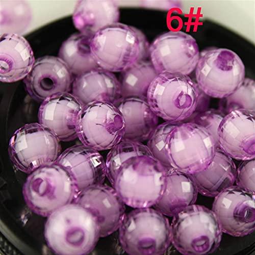 kengbi Kit de Cuentas de Semillas de Colores Beads de Cristal 8mm Handcrafted Crackle Lamparwork Redondo Perlas para la fabricación de Joyas (Color : No 6, Size : 100pcs 10mm)