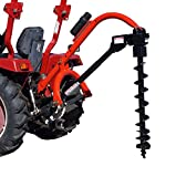 Tool Tuff Pole-Star 650 3-Pt Tractor 3-Point Post Hole Digger W/Optional Auger Combos 6', 9' & 12' Diameter (6', 9' & 12' Augers)