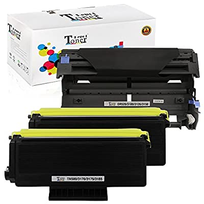 1 PACK/2 PACK/4 PACK/10 PACK Compatible with Brother TN580 Toner Cartridge; Black Drum Unit for Brother DR520; 2 Toner + 1 Drum