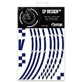Formulaioue Pegatinas de Cinta de Borde de Motocicleta Fluorescente Rayas de la Rueda Calcoman/ías para Ruedas de Motocicleta Accesorio Kits de Pegatina Azul