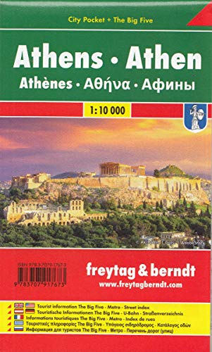 Athen, Stadtplan 1:10.000, City Pocket + The Big Five (freytag & berndt Stadtpläne)