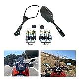 バイク用 ハンドルミラー ヤマハ YAMAHA MT-07 MT-09 XSR900 ホンダ GROM DUCATI 汎用バックミラー 8MM 10MM 逆/正ネジ