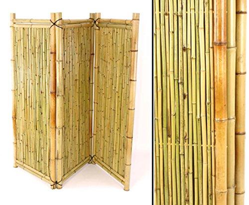 Bambus Paravent 3teilig mit 150x180cm, verschnürt
