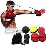 Fight Ball Boxing Training Ball Paquete de 3 Gel de sílice Fight Ball Reacción, Agilidad, Velocidad de perforación Reflex Boxing React Training Boxer Speed Punch con Banda para la Cabeza