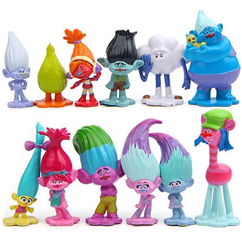 WENTS Trolls Doll Mini Figuren Set Geburtstags Party liefert Cupcake Figuren Party Kuchen Dekoration...