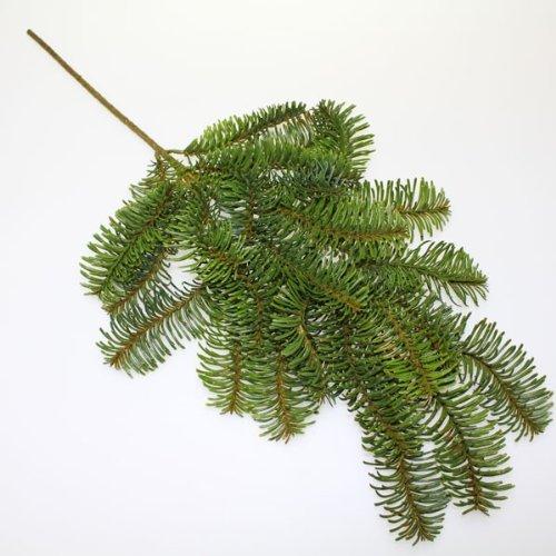 N/A Tanne Nobilis künstlich Tannenzweig grün ca. 67cm x 32cm Weihnachten Advent
