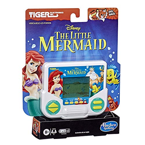 Hasbro Gaming Tiger Electronics Disney's The Little Mermaid Electronic LCD Video Game, Retro-Inspired Edition, Handheld 1-Player Game, Ages 8 and Up