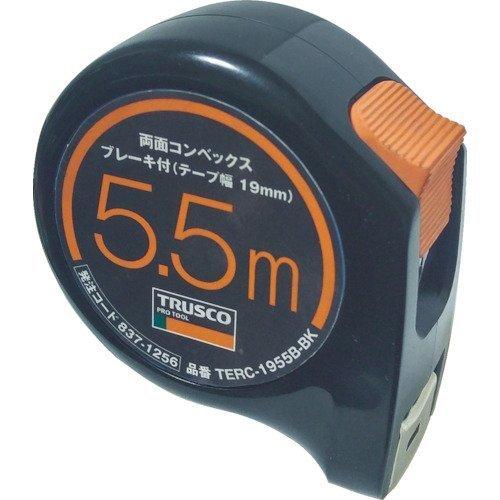 トラスコ TRUSCO TRUO 両面コンベックス19巾5.5mブレーキ付 ブラック