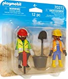 PLAYMOBIL Construction Workers 70272 Figuras Duo Pack