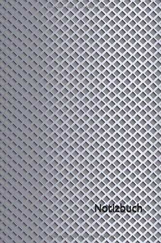 Notizbuch: Metall Notizbuch | 6x9 Zoll DIN A5 | 120 Seiten Punktraster | Metallisch Notizheft | Metall Textur Tagebuch | Metallkunst Notebook