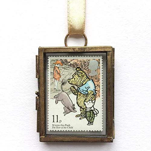 Winnie the Pooh Framed Postage Stamp Gift Ornament