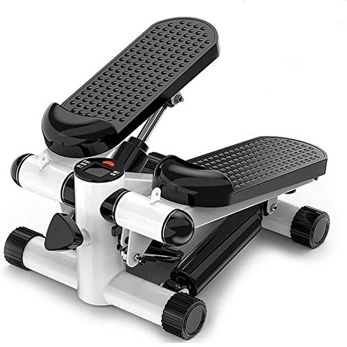 Mini-Stepper Swing Stepper Mini Stepper Fitness Stair Stepper - Máquina de Ejercicios portátil Twist Stair Stepper Fitness Pantalla LCD y Duradera y cómodos Pedales A