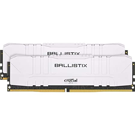 Crucial BL2K8G32C16U4W Ballistix Memoria Gamer para ordenadores de sobremesa, 3200 MHz, DDR4, DRAM, , 16GB (8GB x2), CL16, Blanco