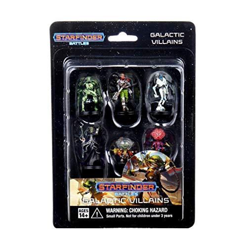 Wizkids Starfinder Battles pre-Painted Miniatures 6-Pack Starter Pack: Monster Pack