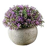 strimusimak Plantas artificiales de flores falsas de hierba de flores de imitación de papel de pulpa de bonsai ornamento para decoración de escritorio de jardín - 6 #