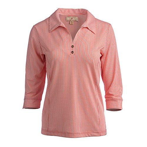 Sport Haley Deena Damen Poloshirt 3/4-Arm, Damen, Poppy, Small