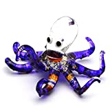 Zoo Craft Hand Blown Glass Figurine Octopus Handmade Miniature Animal Art