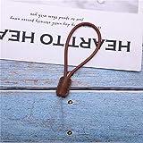 Heng Genuine Leather Small Gift Cordón Retro para teléfono móvil Clave Titular del Llavero Titular de la Insignia Titulares de la cámara, marrón 7cm