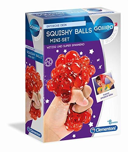 Clementoni 59165 Galileo Science – Squishy Balls, Experimentierset zum Herstellen von weichen Bällen, bunte Quetschbälle für kleine Forscher, Spielzeug für Kinder ab 8 Jahren