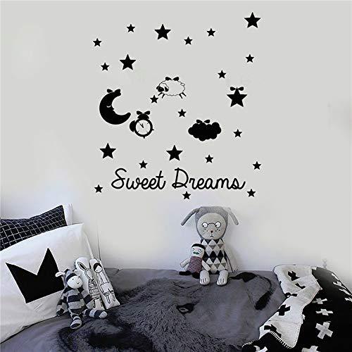 Sanzangtang Creatieve dieren strik schaap sticker slaapkamer decoratie voor huis kleuterschool kinderkamer kinderkamer muursticker