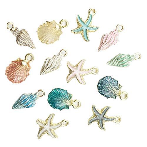 Kakiyi Accessori Regalo del Pendente 13pcs Lega Conch Starfish Gioielli Fai da Te Bracciale Orecchini Collana