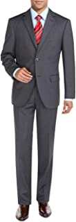 DTI BB Signature Two Button Men's Suit Sharkskin Jacket Modern Fit Blazer Pants