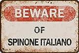 Tarika Spinone Italiano Eisen Poster Vintage Gemälde Zinn