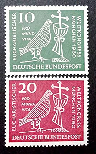 FGNDGEQN Colección de Sellos Sello alemán 1960 World Santy Communion Covenant Pigeon Soly Semply Cup Cross Talling Edition 2