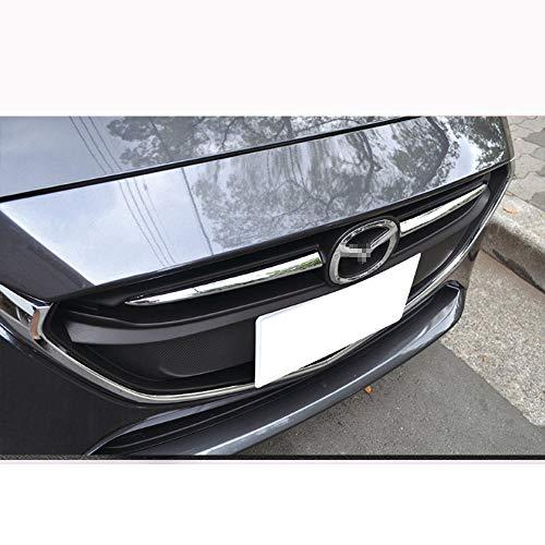 QQKLP Fit für Mazda 2 Demio 2015 2016 2017 DJ DL Mazda2 Fließheck Limousine Zubehör Styling Chrome Frontgrill Grillabdeckung Trim Moulding,Silber