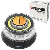 KRASER KR400V16 Luz Emergencia Coche Homologada DGT 2 en 1 con Linterna LED de Doble Intensidad y señal V16 de Gran Visibilidad, Base Imantada, Pilas AAA, Gancho Colgador, Negro, 1 Unidad