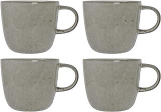 ProCook Oslo - Grande Tasse/Mug en Grès - 4 Pièces - Tasse à Café/Tasse à Thé - Glaçure Réactive - Gris
