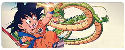 MOUSEPADBD Muispads, Dragon Ball Anime1000 mm x 500 mm x 3 mm, spel muismat voor PC E