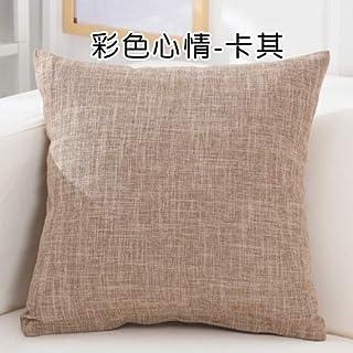 YYBF Sólido sofá Cintura cojín Almohada Decorada Tirante Almohada para el hogar 500 mm x 500 mm 02