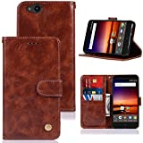 ZTE Blade Vantage Case, ZTE Tempo X/AVID 4 Case/ N9137 / Z839, Zoeirc PU Leather Wallet Flip Protective Phone Case Cover with Card Slots and Stand for ZTE Tempo X N9137 (Brown)