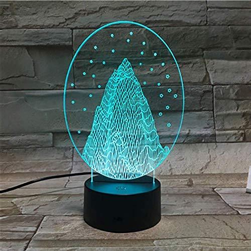 s Baum 3D Lampe 7 Farben ändern Nachtlicht Home Party Dekoration Kreatives Geschenk für Kinder Abstraktes Acryl