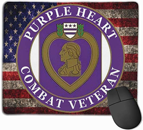US Purple Heart Combat Veteran Mauspads rutschfeste Gaming-Mausunterlage Mousepad