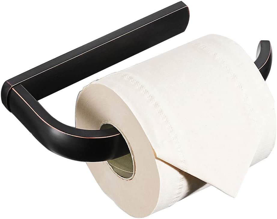 BESy Brass Toilet Tissue Paper trust Holder Bathroom Rubbed Bronze Beauty products Oil