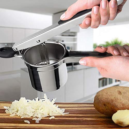 Nesee Mashed Potatoes Masher, Stainless Steel Potato Ricer Heavy Duty with Ergonomic Handles, Best Potato Ricer Masher for Cauliflower, Spaetzel and Boiled Eggs