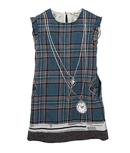 John Galliano Kids Girl's Blue Plaid Tartan Wool Dress (10)