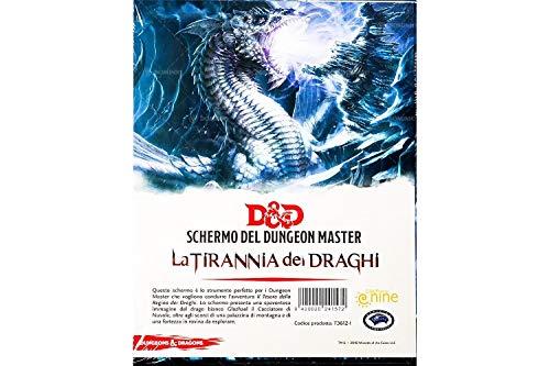 Asmodee- Schermo Ufficiale del Dungeon Master per Il Gioco di Ruolo Dungeons & Dragons, 5a Edizione, Tirannia dei Draghi, Colore, 4013