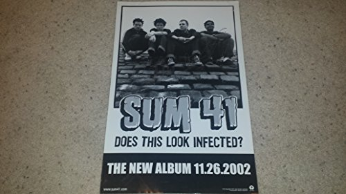 """SUM 41 signed""""Does This Look Infected?"""" 11x17 poster"""