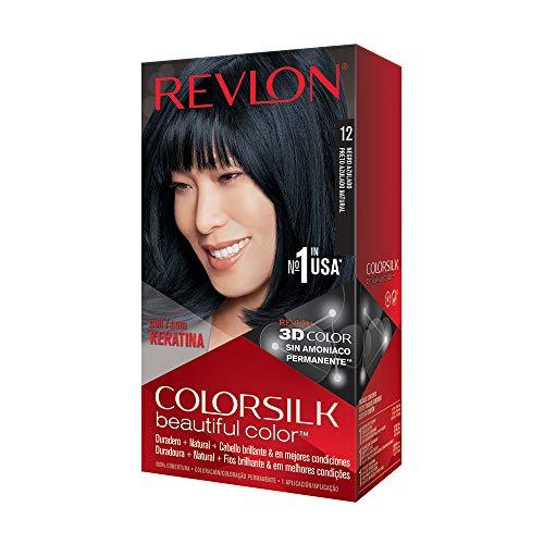 Revlon Colorsilk Beautiful Color, Natural Blue Black [12] 1 ea (Pack of 3)